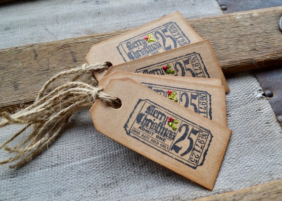 Christmas Ticket Gift Tags