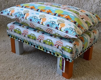 Children Stool.With a matching handpainted FAIRY DOOR.Kids Chair.Seat.Small Footstool.