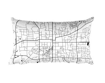 Auburn Pillow, Auburn Decor, Auburn Cushion, Auburn Throw Pillow, Auburn Gift, Auburn Map, Auburn Art, Auburn AL, Auburn, Auburn Alabama