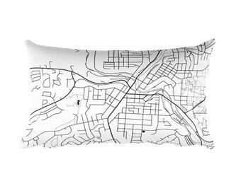 Pullman Pillow, Pullman Decor, Pullman Cushion, Pullman Throw Pillow, Pullman Gift, Pullman WA Map, Pullman Art, Pullman Washington, Map Art