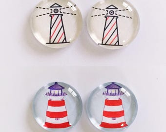 The 'Lighthouse' Glass Earring Studs