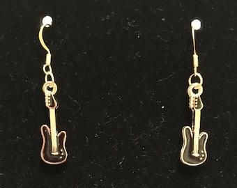 Electric Guitar Charm Earrings