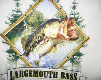 SALE large mouth bass t shirt