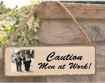Laurel & Hardy sign  gift for the shed! .. can be personalised
