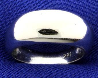 Modern 18K White Gold Ring
