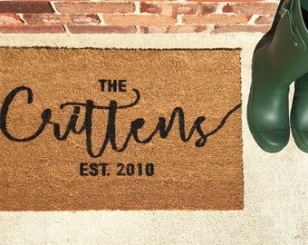 Customizable Doormat / Wedding Gift / Anniversary Gift / House Warming Gift
