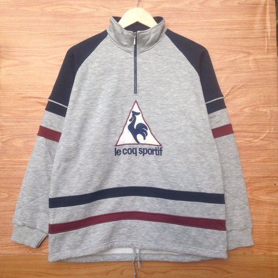 Rare!! Vintage Ie coq sportif sweatshirt big logo