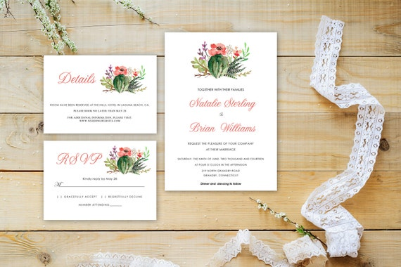 Floral wedding invite word_66,INSTANT DOWNLOAD, Editable Wedding template invitation. Microsoft Word template.Wedding Printable
