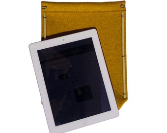 Felt ipad sleeve, made of natural materials, Elegant felt sleeve, felt case, Free shipping.