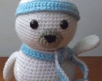 Crochet Baby Seal Amigurumi Soft Toy