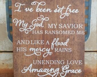 Handmade Religious Wooden Sign