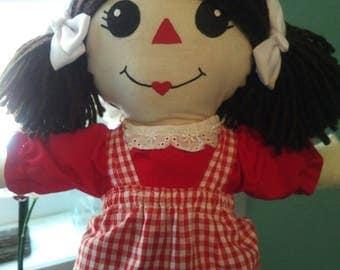 Rag Doll, handmade Ragdoll, doll, cloth doll, soft doll, doll for girls. Girls gift, Birthday gift for girls,