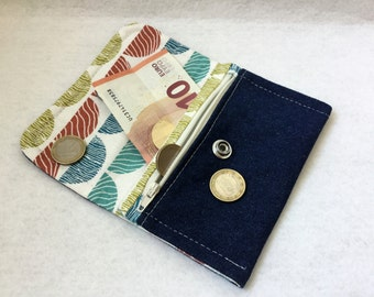 """Tissue flap wallet """"denim"""" and fancy - Ref fabric: PM16"""