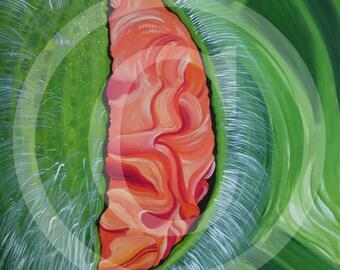 Poppy, Papaver, print on canvas, 80 x 100 cm