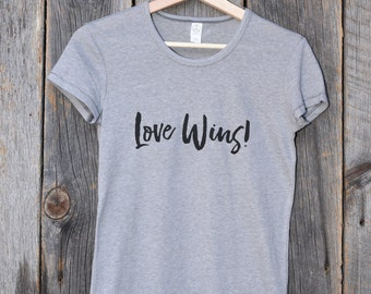 Love Wins! (Fitted Women's T-shirt)