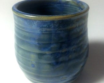 Small Hand Thrown Cup with Homemade Crystal Glaze #3