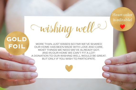 DIY Wedding Wishing Well Card