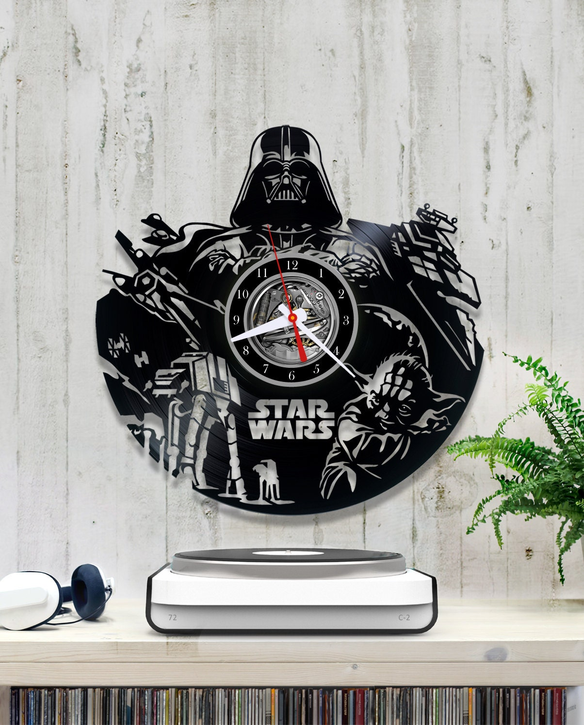 Star Wars Vinyl Clock Darth Vader Wall Vinyl Clock V043 Clock