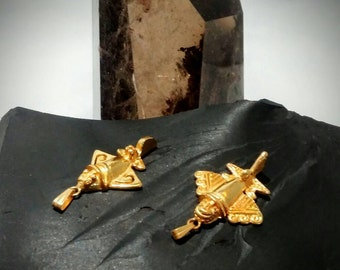 Official Ancient Aliens (Gold Plated) Chariot of the Gods - Mayan Airplane Pendant