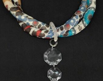 Material Necklace & Vintage Pendant