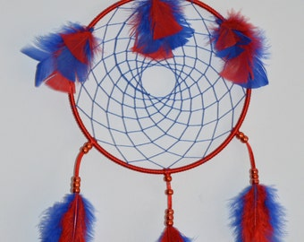 Blue and Red Dreamcatcher