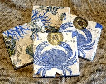 Seaside Natural Stone Coaster