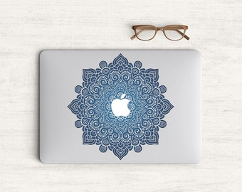 Mandala Dark Blue Sticker Skin Vinyl Decal for MacBook Laptop K0500