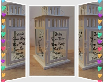 Large lantern with quote