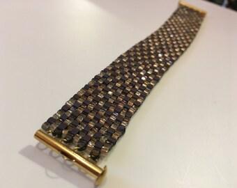 A Little Brown, A Little Bronze Tapestry Bracelet