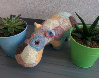 Patches the Knitted Hippo