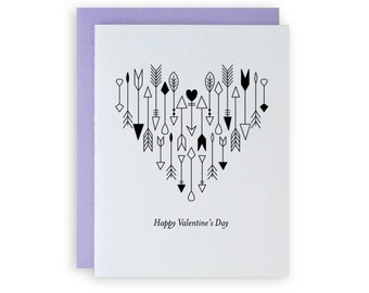 Arrows - Letterpress Valentine's Greeting Card