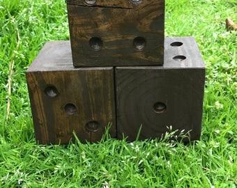 Wood Dice, Handmade Dice, Rustic Dice