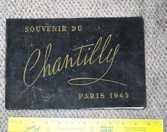 Vintage 1945 Souvenir Du Chantilly Show Program 1945