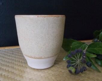 Matt green ceramic Cup