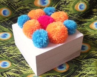 Pom Pom Jewellery/Craft/Trinket box