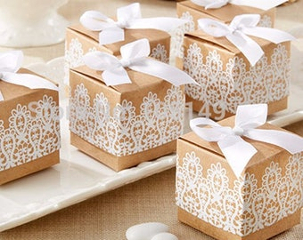 30pcs White Lace Wedding Favor Boxes Wedding Candy Box Casamento Wedding Favors And Gifts 30pcs/lot