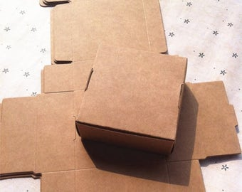 50pcs/lot Ecofriendly Kraft Box,Kraft Paper Packing Box,small soap Box 350gsm 7*7*3cm