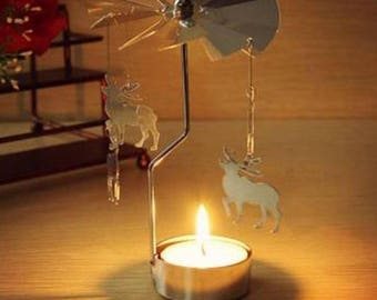 Christmas Rotation Candle Holder  Creative Gifts 4 styles