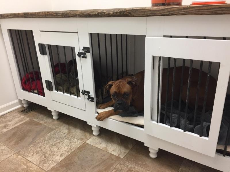 Custom Dog Kennel Double Door