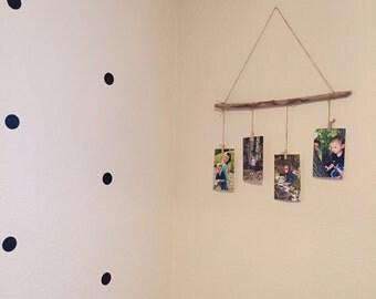 Rustic photo hanger