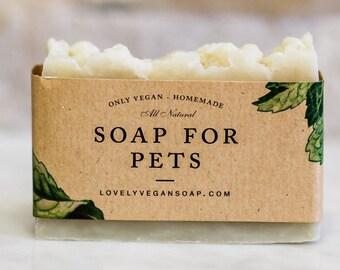 Soap for Pets, vegan soap, dog soap, homemade soap, Neem oil soap, natural soap, repels fleas, pet soap, insect soap, pet gift, pet shampoo