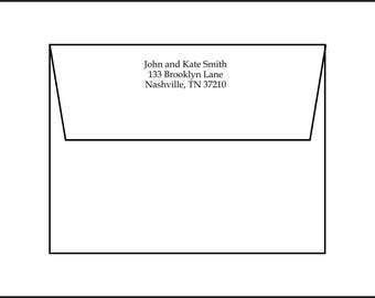 Return Address Printing, 4 styles to choose from. Printing for current customers only with print jobs that include envelopes.