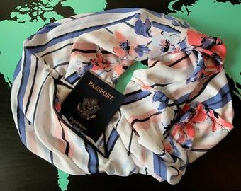 ON SALE! Golden Afternoon - Hidden Zipper Pocket Travel Scarf