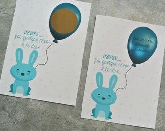 Scratch card asking to sponsor Blue Rabbit