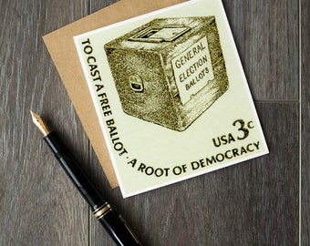 Voting rights, roots of democracy, cast a free ballot, US elections, US democracy, US democratic system, Us postage stamps, Us history