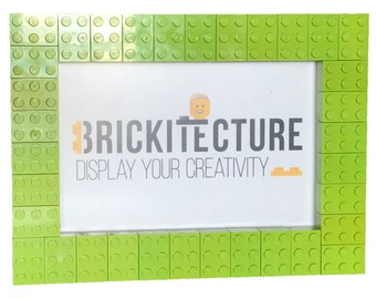 Picture Frame - Lime - Authentic 2x3 LEGO Bricks Attached