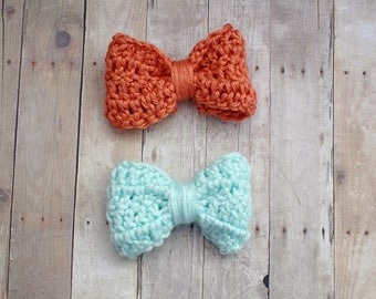 Little bow peep bow, crochet bows, hair bows, baby bows, toddler bows