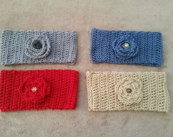 Women's Headband Earwarmer Crocheted Cowl