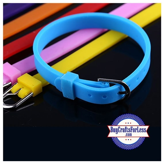 Silicone Bracelets for 8mm Slider Letters /Charms-9 COLORS +FREE Shipping & Discounts*