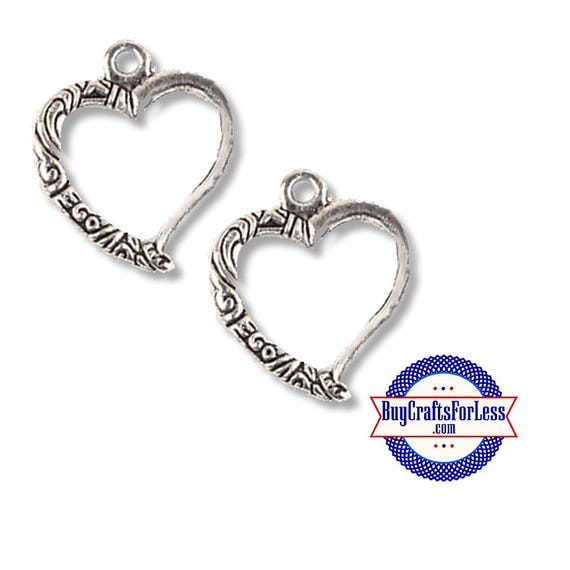 Open HEART PRETTY Charm Design 2 pcs  +FREE SHiPPiNG & DiSCOUNTS*